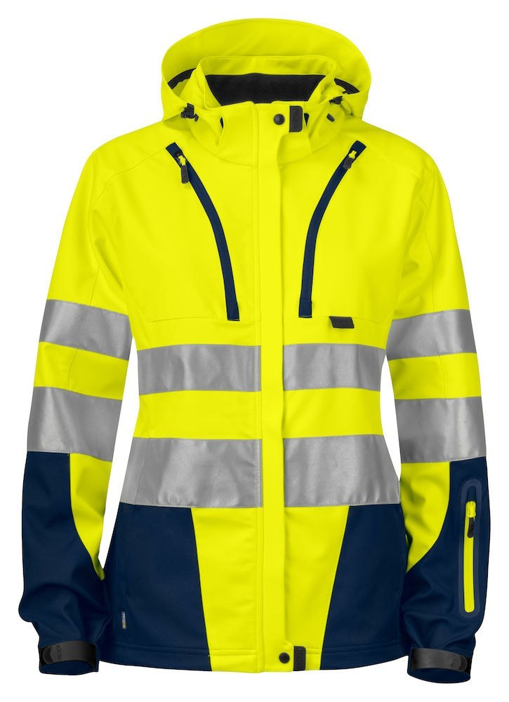 6423 SOFTSHELL HV DAMSKI YELLOW/NAVY - 10 XL
