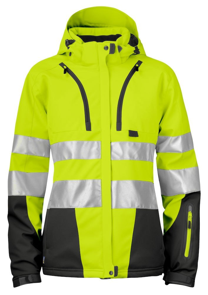 6424 SOFTSHELL HV EN ISO 20471 KLASA 3/2 YELLOW/BLACK - 11 3XL