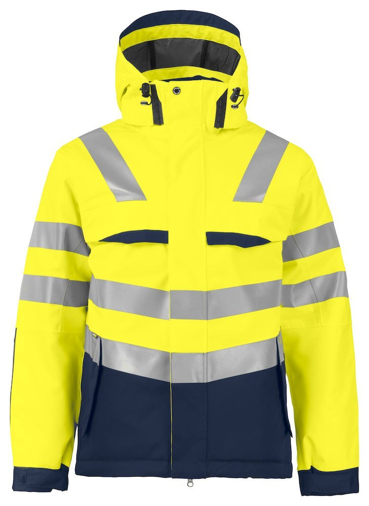 6422 KURTKA EN ISO 20471 YELLOW/NAVY - 10 XXL