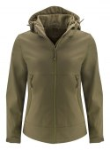 LODGETOWN LADY SOFTSHELL MOSS GREEN S
